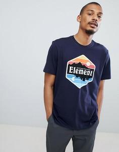 Темно-синяя футболка с принтом кактусов Element - Темно-синий