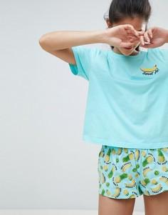 Трикотажная футболка и шорты ASOS DESIGN - Мульти