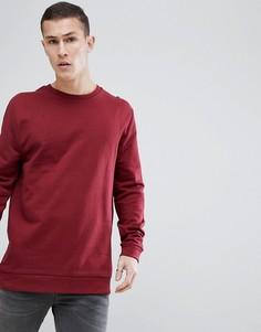 Длинный бордовый свитшот ASOS - Красный