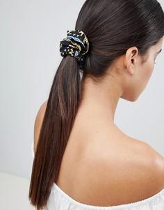 Резинка для волос в винтажном стиле с принтом ASOS DESIGN - Мульти