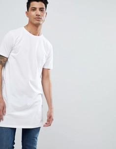 Белая длинная футболка ASOS DESIGN - Белый