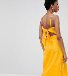 Платье миди с вырезом на спине Vero Moda Tall - Желтый