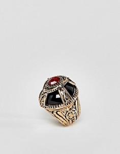 Броское кольцо с камнем ASOS DESIGN - Золотой