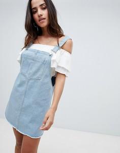 Джинсовое платье-комбинезон Boohoo - Синий
