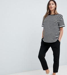 Трикотажные строгие брюки скинни с завышенной талией ASOS DESIGN Maternity - Черный