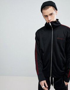 Спортивная куртка с полосками по бокам Mennace - Черный