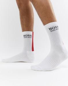 Полосатые носки с задней частью в рубчик BOSS - Белый