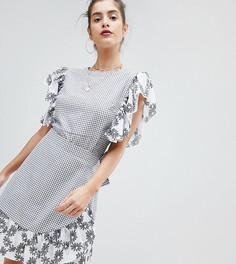 Платье с принтом и запахом Reclaimed Vintage Inspired - Мульти