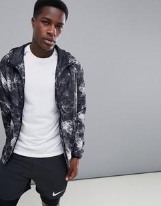 Куртка для бега с принтом FIRST - Черный