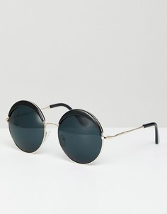 Черные круглые солнцезащитные очки в стиле oversize Jeepers Peepers - Черный