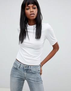 Укороченная футболка G-star - Белый