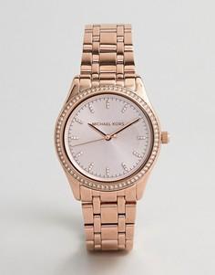 Женские часы из нержавеющей стали Michael Kors Parker - Розовый