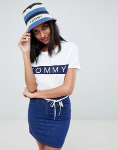 Шляпа с полосками и логотипом Tommy Hilfiger - Мульти