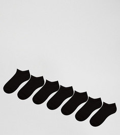 Набор из 7 пар черных спортивных носков ASOS - СКИДКА - Черный