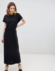 Платье макси с короткими рукавами Vero Moda - Черный