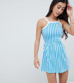 Летнее платье в полоску Missguided Petite - Синий