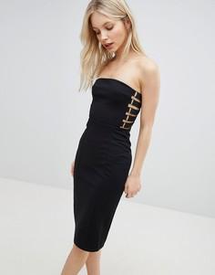 Платье-футляр с открытыми плечами QED London - Черный
