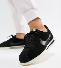 Черные замшевые кроссовки Nike Classic Cortez - Черный