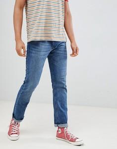 Синие прямые джинсы из органического хлопка Esprit - Синий