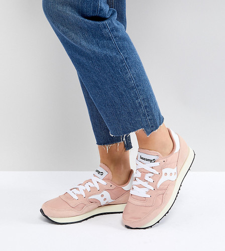 Кроссовки пастельно-розового цвета Saucony Jazz Original Vintage - Зеленый