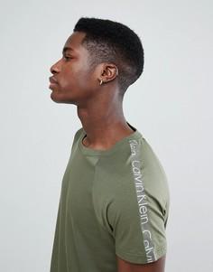 Пляжная футболка с логотипом Calvin Klein - Зеленый