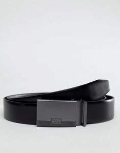 Черный двухсторонний ремень в подарочной коробке BOSS - Черный