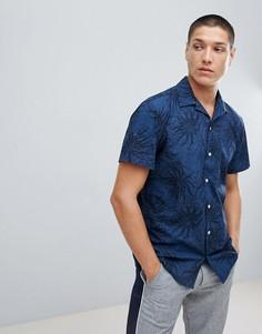 Рубашка с короткими рукавами и принтом Jack & Jones Originals - Темно-синий