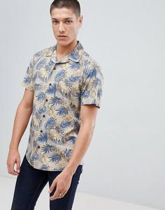 Рубашка с короткими рукавами и принтом Jack & Jones Originals - Бежевый