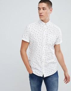 Рубашка с короткими рукавами и цветочным принтом Jack & Jones Originals - Белый