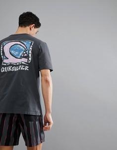 Черная футболка с принтом на спине Quiksilver Durable Dens - Черный