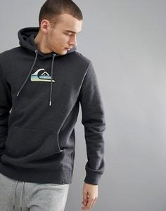 Худи темно-серого цвета с крупным логотипом Quiksilver - Серый