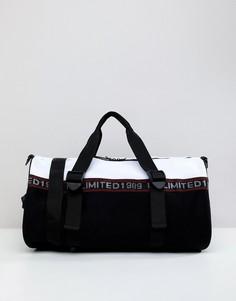 Черно-красная сумка с сетчатой отделкой ASOS DESIGN - Черный