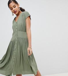 Чайное платье миди в стиле casual от ASOS DESIGN Tall - Зеленый