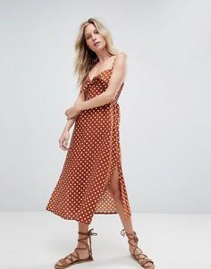 Платье миди в горошек Faithfull - Оранжевый
