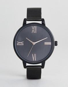 Черные часы с сетчатым браслетом ASOS DESIGN - Черный