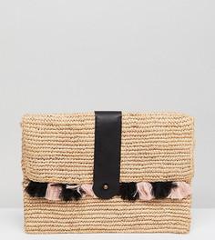 Плетеный клатч с кисточками эксклюзивно от Maison Scotch - Мульти