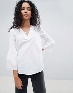 Блузка с расклешенными рукавами JDY Stella - Белый