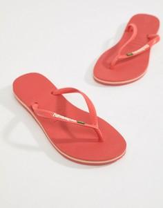Шлепанцы с логотипом Havaianas Brasil - Розовый
