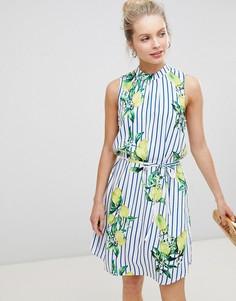 Свободное платье без рукавов с принтом JDY - Мульти