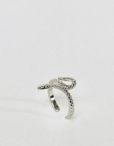 Кольцо на палец ноги со змеей ASOS DESIGN - Серебряный