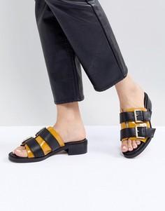 Кожаные желтые сандалии ASOS WHITE - Мульти