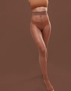 Телесные колготки 10 ден Nubian Skin Matte - Medium - Бежевый
