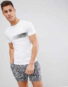 Зауженная футболка BOSS - Белый