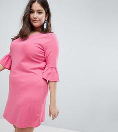 Свободное платье с оборками Junarose - Розовый