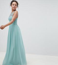 Платье макси с отделкой Little Mistress - Зеленый
