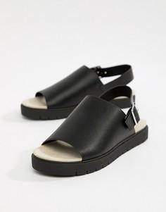 Черные сандалии с ремешком на щиколотке Monki - Черный