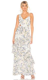 Вечернее платье с рюшами - BCBGMAXAZRIA