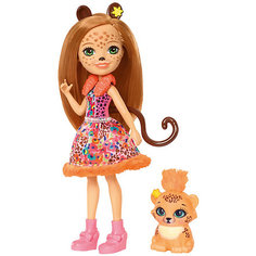 "Мини-кукла Enchantimals ""Любимая зверюшка"" Чериш Гепардини и Шустрик Mattel"