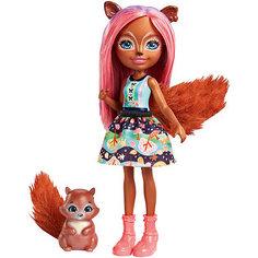 "Мини-кукла Enchantimals ""Любимая зверюшка"" Санча Сквирелл и Стампер Mattel"