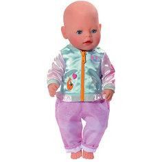 Штанишки и кофточка для прогулки BABY born, голубо-розовые Zapf Creation